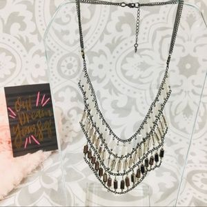 Nakamol Silver collar statement necklace